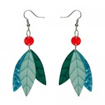 Erstwilder_Prehistoric_Drops_Earrings_Blue_Front